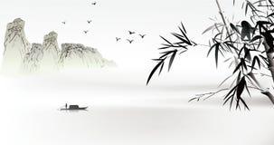 κινεζική ζωγραφική Στοκ Εικόνες