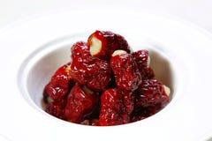 κινεζική κόκκινη ημερομηνία Στοκ Φωτογραφίες