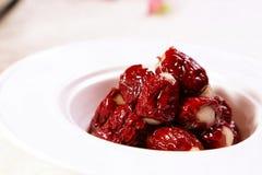 κινεζική κόκκινη ημερομηνία Στοκ Εικόνα