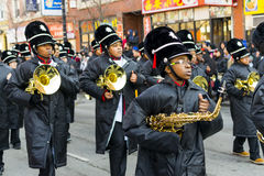 Κινεζική νέα παρέλαση έτους: Μπάντα Στοκ φωτογραφίες με δικαίωμα ελεύθερης χρήσης