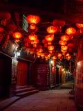 Κινεζική οδός τη νύχτα, κανένας άνθρωπος Στοκ Φωτογραφίες