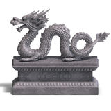 κινεζική πέτρα αγαλμάτων δ&r απεικόνιση αποθεμάτων