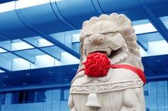 κινεζική πέτρα λιονταριών π Στοκ εικόνες με δικαίωμα ελεύθερης χρήσης