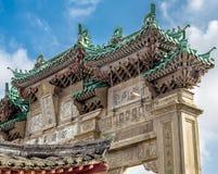 Κινεζική πέτρινη αψίδα Στοκ φωτογραφία με δικαίωμα ελεύθερης χρήσης