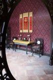 Κινεζική παραδοσιακή εσωτερική αρχιτεκτονική Στοκ εικόνες με δικαίωμα ελεύθερης χρήσης