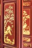 Κινεζική παραδοσιακή ζωγραφική στην πόρτα Στοκ Εικόνες