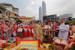 Κινεζική παραδοσιακή ιεροτελεστία της μετάβασης Στοκ φωτογραφία με δικαίωμα ελεύθερης χρήσης