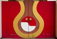 Κινεζική πόρτα ναών Στοκ Εικόνες