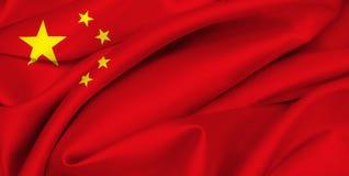κινεζική σημαία της Κίνας στοκ εικόνες