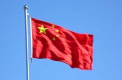 κινεζική σημαία Στοκ εικόνα με δικαίωμα ελεύθερης χρήσης