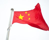 Κινεζική σημαία Στοκ Εικόνα