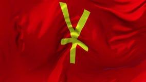 312 Κινεζική σημαία Yuan Renminbi που κυματίζει το συνεχές άνευ ραφής υπόβαθρο βρόχων απόθεμα βίντεο
