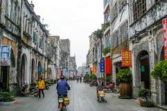 Κινεζική σκηνή οδών Στοκ Φωτογραφία