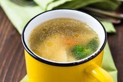 κινεζική σούπα εστιατορίων τροφίμων κοτόπουλου Στοκ Φωτογραφίες