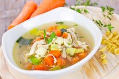 κινεζική σούπα εστιατορίων τροφίμων κοτόπουλου Στοκ εικόνα με δικαίωμα ελεύθερης χρήσης