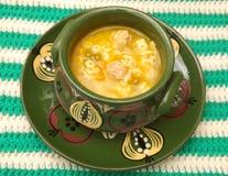 κινεζική σούπα εστιατορίων τροφίμων κοτόπουλου Στοκ Εικόνα