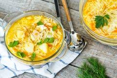 κινεζική σούπα εστιατορίων τροφίμων κοτόπουλου Στοκ εικόνες με δικαίωμα ελεύθερης χρήσης