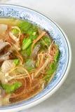 κινεζική σούπα χοιρινού κρέατος συκωτιού τροφίμων στοκ εικόνες