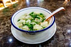 Κινεζική σούπα Hundun στοκ φωτογραφία