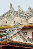 Κινεζική στέγη εκκλησιών ναών κινεζική Στοκ Εικόνες
