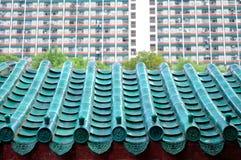 κινεζική στέγη λεπτομέρε&io Στοκ Φωτογραφία