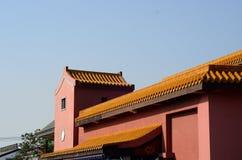 Κινεζική στέγη ναών ύφους Στοκ φωτογραφία με δικαίωμα ελεύθερης χρήσης