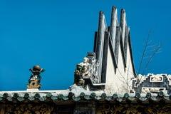 Κινεζική στέγη ναών Στοκ εικόνες με δικαίωμα ελεύθερης χρήσης