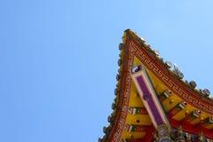 Κινεζική στέγη ναών Στοκ Εικόνες
