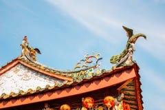 Κινεζική στέγη ναών Xinzu σε Lukang, Ταϊβάν Στοκ Φωτογραφίες
