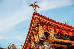 Κινεζική στέγη ναών Xinzu σε Lukang, Ταϊβάν Στοκ Εικόνες