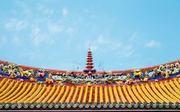 Κινεζική στέγη στο ναό Κομφουκίου στη Ταϊπέι, Ταϊβάν Στοκ φωτογραφία με δικαίωμα ελεύθερης χρήσης
