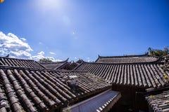 κινεζική στέγη Στοκ εικόνες με δικαίωμα ελεύθερης χρήσης