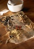 κινεζική συνταγή ιατρική&sigm Στοκ φωτογραφία με δικαίωμα ελεύθερης χρήσης
