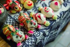 κινεζική τίγρη υφασμάτων στοκ φωτογραφίες με δικαίωμα ελεύθερης χρήσης