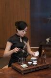 Κινεζική τελετή τσαγιού Στοκ Εικόνες