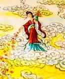 Κινεζική τοιχογραφία Στοκ φωτογραφία με δικαίωμα ελεύθερης χρήσης