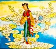 Κινεζική τοιχογραφία Στοκ φωτογραφίες με δικαίωμα ελεύθερης χρήσης