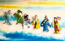Κινεζική τοιχογραφία Στοκ εικόνες με δικαίωμα ελεύθερης χρήσης