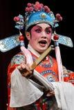 κινεζική όπερα δραστών Στοκ Εικόνες