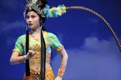 κινεζική όπερα ηθοποιών όμ&omic στοκ φωτογραφία
