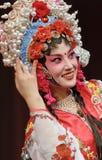κινεζική όπερα ηθοποιών όμ&omic Στοκ φωτογραφία με δικαίωμα ελεύθερης χρήσης