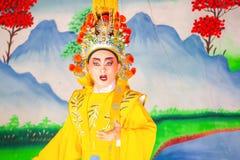 Κινεζική όπερα που εκτελείται για έναν σεληνιακό νέο εορτασμό έτους Στοκ εικόνες με δικαίωμα ελεύθερης χρήσης