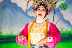 Κινεζική όπερα που εκτελείται για έναν σεληνιακό νέο εορτασμό έτους Στοκ Εικόνες