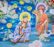 Κινεζική mural τέχνη ζωγραφικής Στοκ εικόνα με δικαίωμα ελεύθερης χρήσης