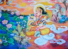 Κινεζική mural τέχνη ζωγραφικής Στοκ Εικόνες