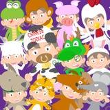 Κινεζική zodiac ζωική κούκλα παιδιών, έτος της απεικόνισης αγελάδων Στοκ φωτογραφία με δικαίωμα ελεύθερης χρήσης