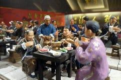 Κινεζικοί αριθμοί στο εστιατόριο στη διάσημη για τους πεζούς εμπορική οδό Qianmen στο Πεκίνο Στοκ Εικόνες