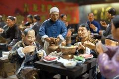 Κινεζικοί αριθμοί στο εστιατόριο στη διάσημη για τους πεζούς εμπορική οδό Qianmen στο Πεκίνο Στοκ φωτογραφία με δικαίωμα ελεύθερης χρήσης