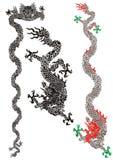 κινεζικοί δράκοι Στοκ εικόνα με δικαίωμα ελεύθερης χρήσης