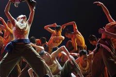 Κινεζικοί εθνικοί χορευτές Στοκ εικόνες με δικαίωμα ελεύθερης χρήσης